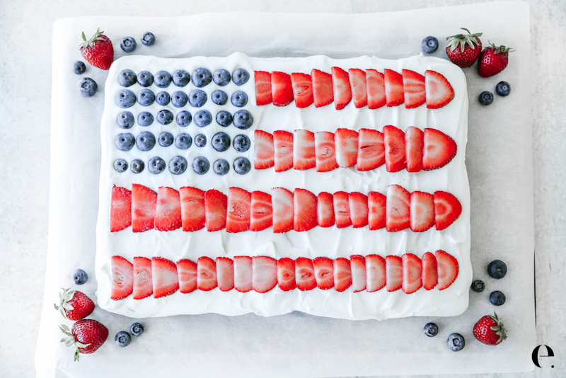 4th of July Dessert Cake - copyrightElizabethRider